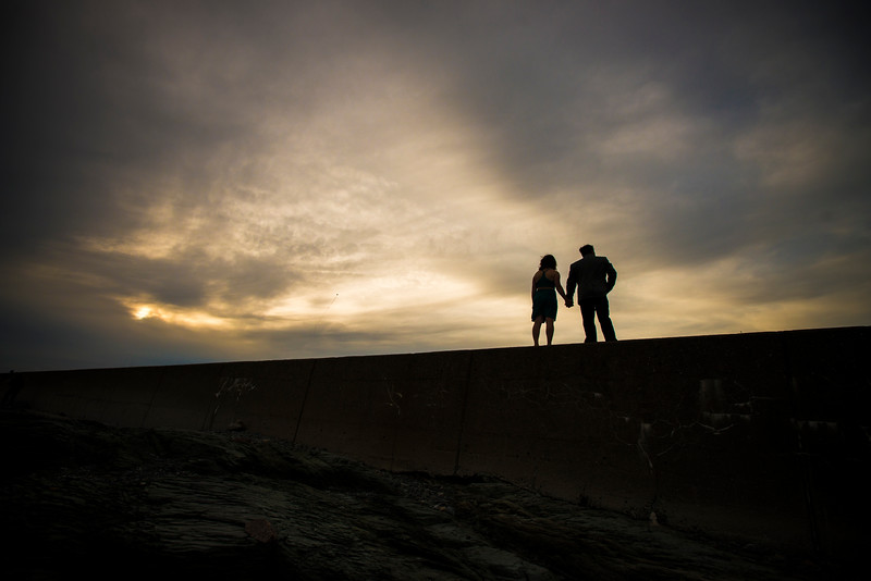 Brenton Point State Park Engagement Photos